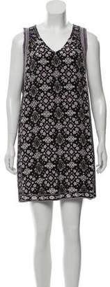 Calypso Silk Abstract Print Mini Dress