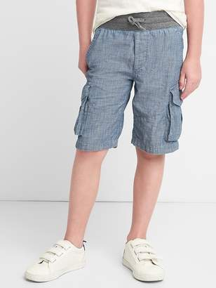 Gap Pull-On Cargo Shorts in Chambray