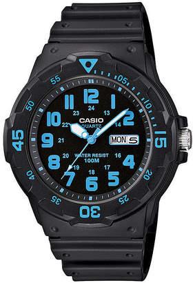 Casio Mens Black Resin Strap Diver Sport Watch MRW200H-2BV