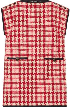 Gucci houndstooth print shift dress