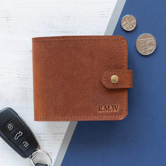 cb4bb12b48d740 Williams Handmade Men's Leather Wallet With Coin Pocket