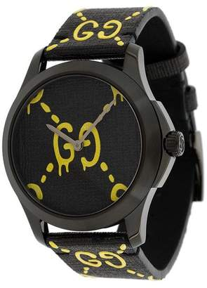 Gucci Black Yellow GucciGhost G-Timeless watch