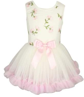 Popatu Embroidered Flowers Tutu Dress