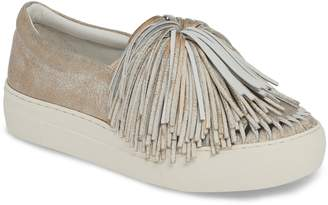 J/Slides Aria Fringe Slip-On Platform Sneaker