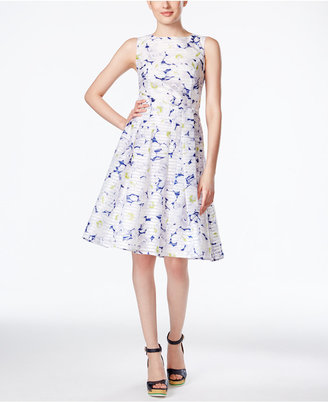 Tommy Hilfiger Sleeveless Floral-Print Fit & Flare Dress $134 thestylecure.com
