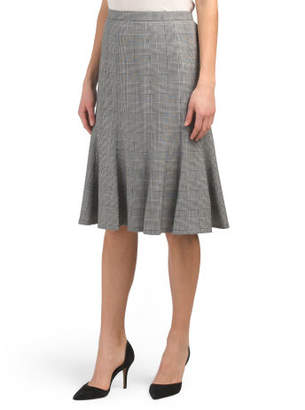 Flare Plaid Skirt