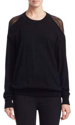 Alexander Wang Sheer Peelaway Sweater