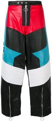 Marques Almeida Marques'almeida colour block biker trousers