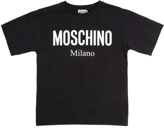 7bb717ee8ae8a Moschino Printed Logo Cotton Jersey T-Shirt