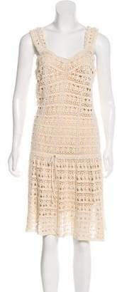 Vince Open Knit Sleeveless Dress