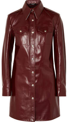 Calvin Klein Leather Mini Dress - Burgundy