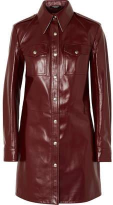 Calvin Klein Leather Mini Dress - Burgundy