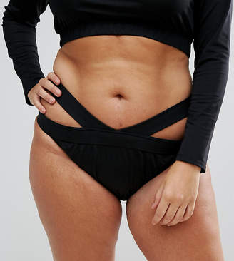 Monif C Cut Out Bikini Bottoms