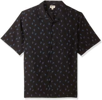 Haggar Men's Tall Short Sleeve Texture Printed Shirts