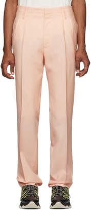 Lanvin Pink Mohair Pleated Trousers