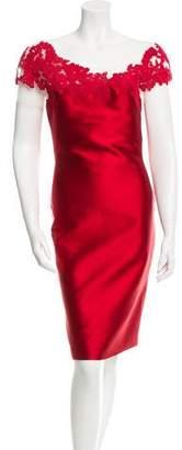 Reem Acra Lace Appliqué Dress w/ Tags