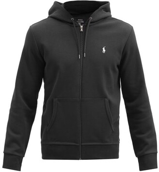 Polo Ralph Lauren Logo Embroidered Zip Through Hooded Sweatshirt - Mens - Black