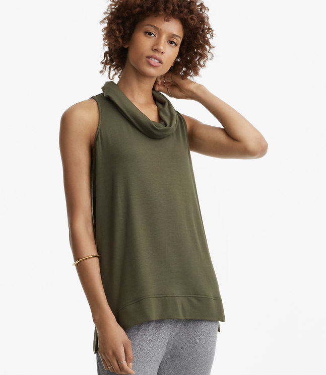 Lou & Grey Signaturesoft Sleeveless Cowl Tunic
