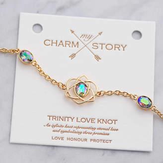 story. J&S Jewellery My Charm Trinity Love Knot Bracelet