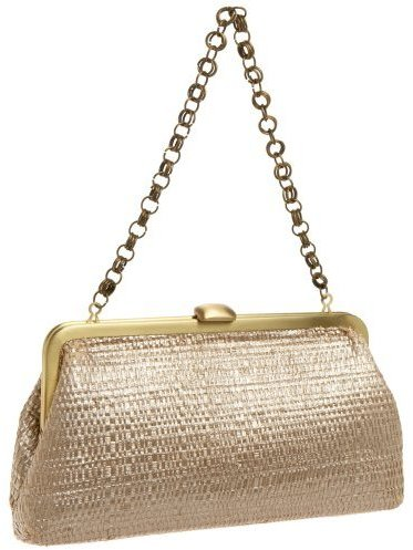 Serpui Marie Tonia Painted Straw Clutch with Chain