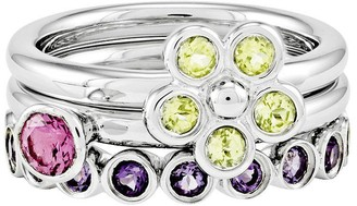 Simply Stacks Sterling Spring Brights Ring Set