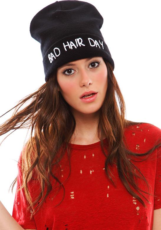Singer22 Local Heroes Bad Hair Day Beanie in Black