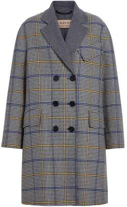 Burberry Double-faced Check Wool Cashmere Coat