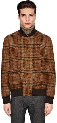 Lardini Cotton Wool Blend Jersey Bomber Jacket