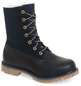 Women's Timberland 'Authentic' Roll Top Faux Fur Lined Boot $164.95 thestylecure.com