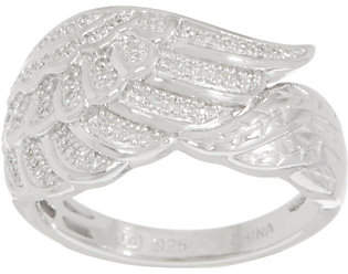 Affinity Diamond Jewelry Angel Wing Diamond Ring, Sterling, 1/7 cttwby Affinity