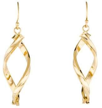 14K Twisted Drop Earrings