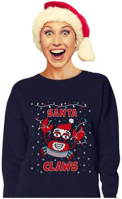 TeeStars Santa Claws Ugly Christmas Sweater Crab Funny Xmas Lobster Women Sweatshirt