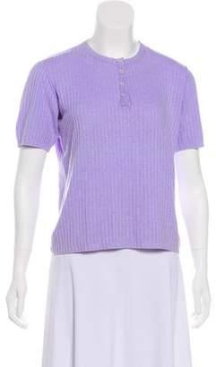 Courreges Knit Short Sleeve Top