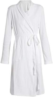 SKIN French terry-towelling robe