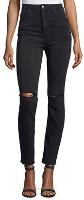 Joe's Jeans The Bella Skinny Distressed Jeans, Emilie $210 thestylecure.com