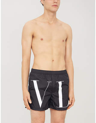Valentino Relaxed-fit logo-print swim shorts