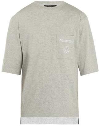 Longjourney - Nash Embroidered Cotton T Shirt - Mens - Grey