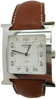 Heure H leather watch