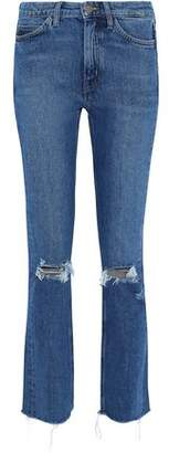 MiH Jeans Daily Distressed High-Rise Slim-Leg Jeans