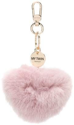 Twin-Set fur heart keyring