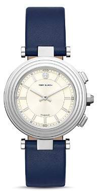 Tory Burch The Classic T Blue Strap Hybrid Smartwatch, 36mm
