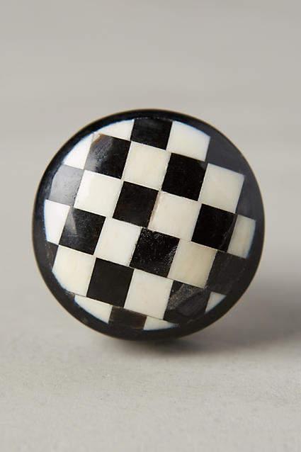 Anthropologie Checker Knob