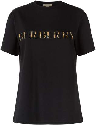 Burberry Vintage Check Logo T-Shirt