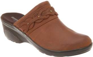 Clarks Leather Wedge Clogs with Braid Detail - Marion Coreen