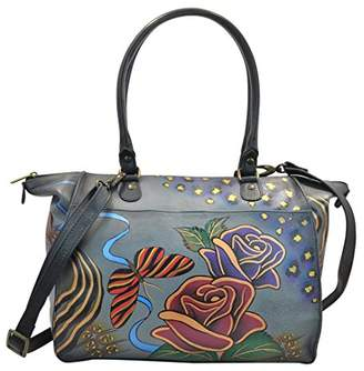 Anuschka Anna by Genuine Leather Large Tote Shoulder Bag | Hand-Painted Original Artwork |