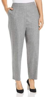 Lafayette 148 New York Plus Fulton Metallic Pinstripe Pants