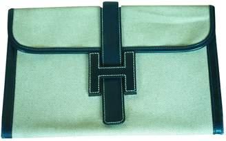 Hermes Jige Cloth Clutch Bag