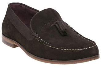 Ted Baker New Mens Brown Dougge Suede Shoes Loafers And Slip Ons On