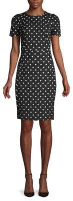 Calvin Klein Polka Dot Sheath Dress
