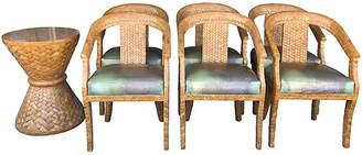 One Kings Lane Vintage Coconut Dining Set - 7 Pcs - nihil novi